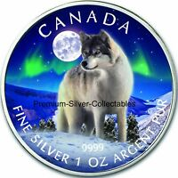 2011 CANADA WILDLIFE SERIES WOLF   1 OUNCE PURE SILVER COIN