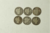 LOT OF 15 DIFF SILVER BARBER DIMES DATED 1902 -- 1916  GOOD  SET  BDR 953
