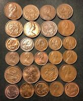 OLD AUSTRALIA COIN LOT   1 AND 2 CENT   27 EXCELLENT OLDER C