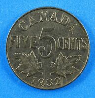 1932 CANADA NICKEL 5 CENT COIN