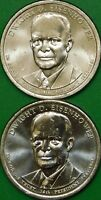 2015 US P AND D MINTS DWIGHT D. EISENHOWER PRESIDENTIAL DOLLARS