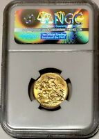 1896 GOLD SOVEREIGN,  MELBOURNE MINT M NGC SLABBED & GRADED MINT STATE 63, HIGH GRADE