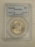 1937 ROANOKE HALF DOLLAR PCGS MINT STATE 66 CERTIFIED COMMEMORATIVE 50C 3335