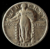 1929-S STANDING LIBERTY 90 SILVER QUARTER SHIPS FREE. BUY 5 FOR $2 OFF