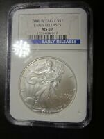 2006 W NGC MINT STATE 69 SILVER EAGLE EARLY RELEASE