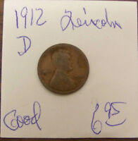 1912 D LINCOLN WHEAT CENT - GOOD
