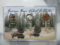 AMERICAN BISON NICKEL COLLECTION- COLORIZED, HOLOGRAPHIC, 24KT GP