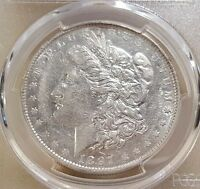 1897 O MORGAN DOLLAR GRADED AU 53 BY PCGS