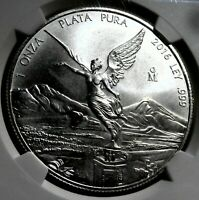 2016 MEXICO 1 OZ SILVER LIBERTAD BU NGC MS 69 EARLY RELEASES