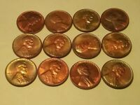 12 CENT LOT / SET GORGEOUS RAINBOW LINCOLN WHEAT MEMORIAL PENNIES PRICE REDUCED