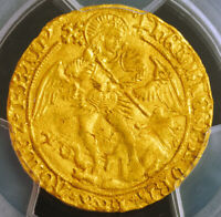 Click now to see the BUY IT NOW Price! 1502 ENGLAND HENRY VII. BEAUTIFUL GOLD ANGEL COIN. MULE STRIKE  PCGS UNC