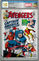 MARVEL COMICS: AVENGERS 4   SILVER FOIL   CGC 10 GEM MINT FIRST RELEASE