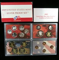 2009 US MINT SILVER PROOF SET W/ BOX AND COA   18 COIN SET
