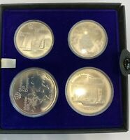 1976 CANADA 4 COIN OLYMPICS STERLING SILVER SET COMPLETE IN