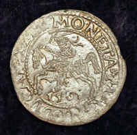 1561 LITHUANIA SIGISMUND II AUGUSTUS I. SILVER  GROSSUS   GROAT  COIN. UNC