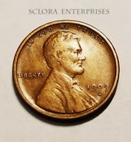 1909 S V.D.B. VDB LINCOLN WHEAT CENT / PENNY   VF -  FINE   THE KING