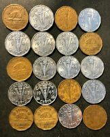 OLD CANADA COIN LOT   1942 1945   20 WAR TIME NICKELS   LOT