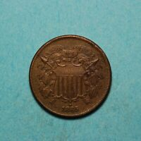 1865 TWO CENT PIECE <> XF