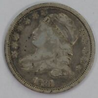 1831 CAPPED BUST DIME VF CONDITION EARLY DATE ORIGINAL SILVER US COIN