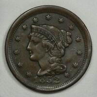 1852 BRAIDED HAIR LARGE CENT -- EXTRA FINE  CONDITION