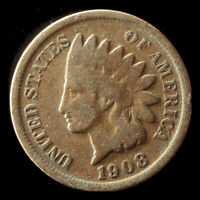 1908-P INDIAN CENT SHIPS FREE. BUY 5 FOR $2 OFF
