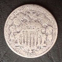 1870  5C SHIELD NICKEL COIN