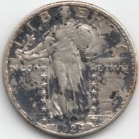 1924 S STANDING LIBERTY QUARTER, AU - CORRODED