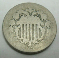 1872 SHIELD NICKEL   AG OR BETTER   SHIPS FREE