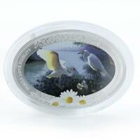 NIUE 2 DOLLARS FAMILY LOVE FIDELITY OVAL CHAMOMILE SILVER CO