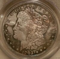 1903 O MORGAN DOLLAR GRADED MINT STATE 64 BY PCGS
