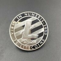 SILVER PLATED LTC COIN COMMEMORATIVE PHYSICAL LITECOIN COLLE