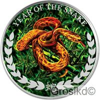 SOMALILAND 2013 1000 SH. YEAR OF THE SNAKE 1 OZ SILBER COLOR