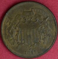 1865 2C PIECE CHOICE ALMOST UNCIRCULATED