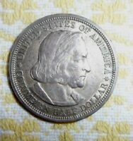 1893 COLUMBIAN EXPOSITION HALF DOLLAR SILVER OLD UNCLEANED ESTATE FREE SHIP