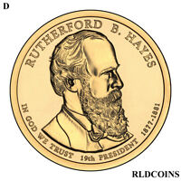 2011 D PRESIDENT RUTHERFORD B. HAYES UNCIRCULATED PRESIDENTIAL DOLLAR  19D