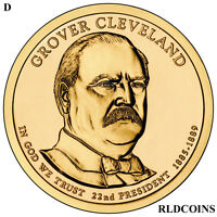 2012 D PRESIDENT GROVER CLEVELAND 1ST UNCIRCULATED PRESIDENTIAL DOLLAR  22D