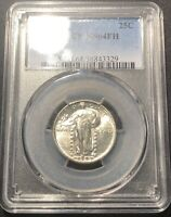 1929-D STANDING LIBERTY QUARTER PCGS MINT STATE 64FHBLAST WHITE AND LOOKS GEM