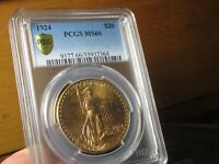 OUTSTANDING LOOKING SAINT GAUDENS DOUBLE EAGLE 1924 PCGS MS