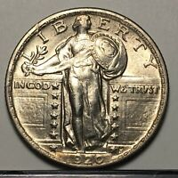 HIGH GRADE LUSTROUS 1920 STANDING LIBERTY SILVER QUARTER U.S. COIN  SHIPS FREE
