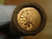 ONE  FRB DENVER LINCOLN WHEAT PENNY ROLL 1911 GOLD QUARTER