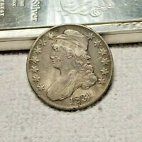 1831 50 CENTS LETTERED EDGE LIBERTY CAPPED BUST SILVER HALF