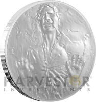 2016 SILVER STAR WARS CLASSIC COIN   HAN SOLO   FROZEN IN CA