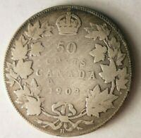 1903 CANADA 50 CENTS   RARE EARLY DATE   HUGE CATALOG VALUE