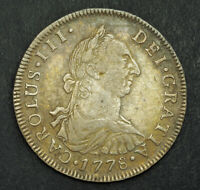1778 BOLIVIA CHARLES III. COLONIAL 4 REALES  SPANISH  BUST D
