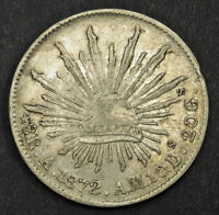1872 MEXICO  2ND REPUBLIC . SILVER 8 REALES
