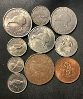 OLD NEW ZEALAND COIN LOT   1951 1965   10 GREAT COINS   LOT