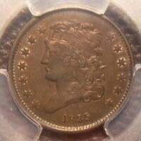1835 CLASSIC HEAD HALF CENT AWESOME DETAIL SOME MINT LUSTER