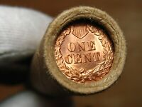ONE  FRB DENVER LINCOLN WHEAT CENT PENNY ROLL GEM BU INDIAN