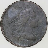 1794 1C LIBERTY CAP LARGE CENT ANACS F 12 DETAILS CORRODED