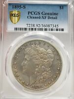 1895-S MORGAN SILVER DOLLAR $1 PCGS CLEANED EXTRA FINE  DETAIL  7345
